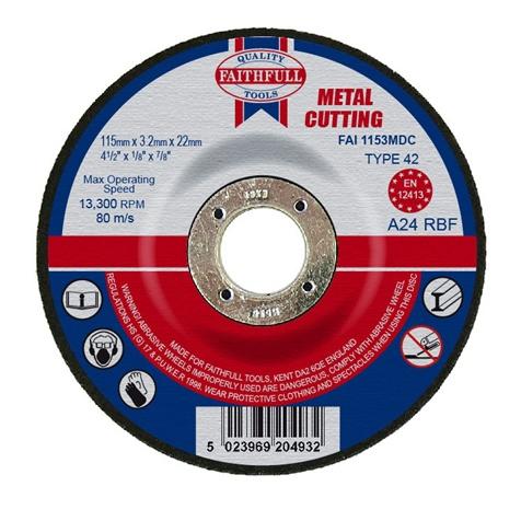 Slijpschijf metaal 115x3,2x22,2mm kom Faithfull-0