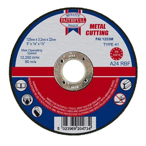 Slijpschijf metaal 125x3,2x22,2mm vlak Faithfull-0