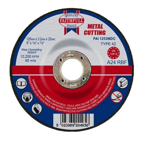 Slijpschijf metaal 125x3,2x22,2mm kom Faithfull-0