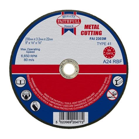 Slijpschijf metaal 230x3,2x22,2mm vlak Faithfull-0
