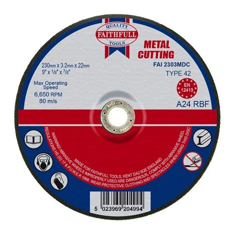 Slijpschijf metaal 230x3,2x22,2mm kom Faithfull-0