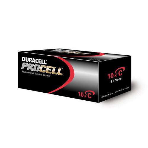 Batterijen Duracell Procell C doos 10 stuks