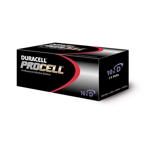 Batterijen Duracell Procell D doos 10 stuks