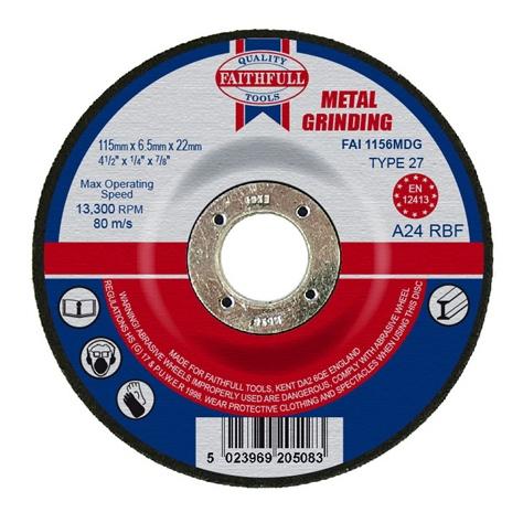 Afbraamschijf metaal 115x6,5x22,2mm Faithfull-0