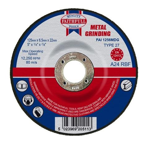 Afbraamschijf metaal 125x6,5x22,2mm Faithfull-0