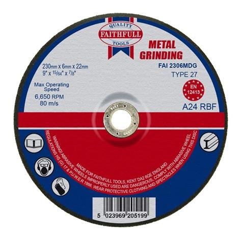 Afbraamschijf metaal 230x6,5x22,2mm Faithfull-0