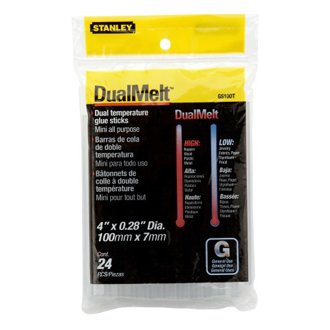 Lijmpatroon Stanley dual melt 250mm | 1-GS25DT-0