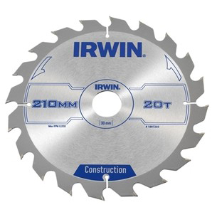 Zaagblad Irwin 210 x 30mm x 20T ATB-0