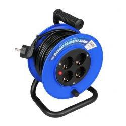 Kabelhaspel 15 meter 4-voudig 3x1mm² randaarde + thermisch beveiligd-0