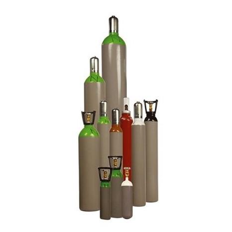 Vulling 4 liter gasfles zuurstof