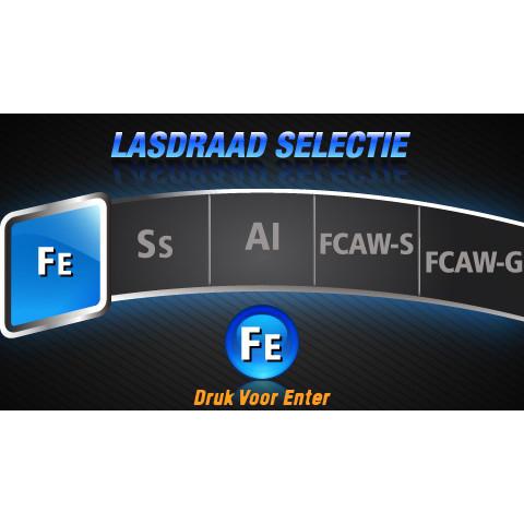 EVO MIG 200 Multi Synergic PFC LCD lasapparaat set met gasfles (MW82)-11312